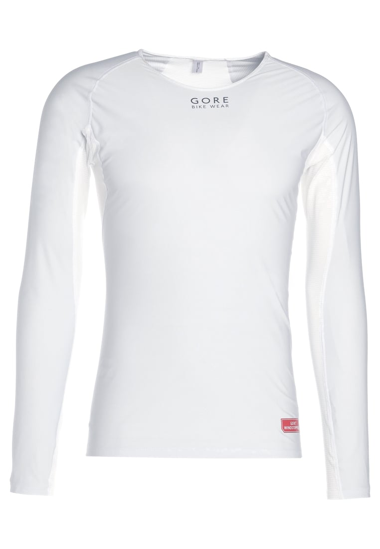 Gore Bike Wear BASE LAYER LONG Koszulka sportowa light grey/white - UWSHML9201