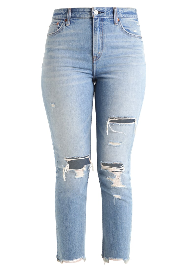 Abercrombie & Fitch GIRLFRIEND Jeansy Relaxed fit destroyed denim - KI155-7218