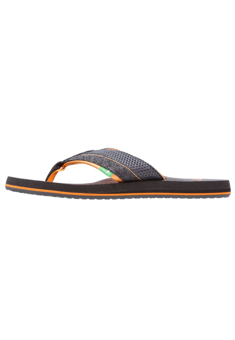 Sanuk BEER COZY 2 Japonki black/charcoal/orange - 29418427