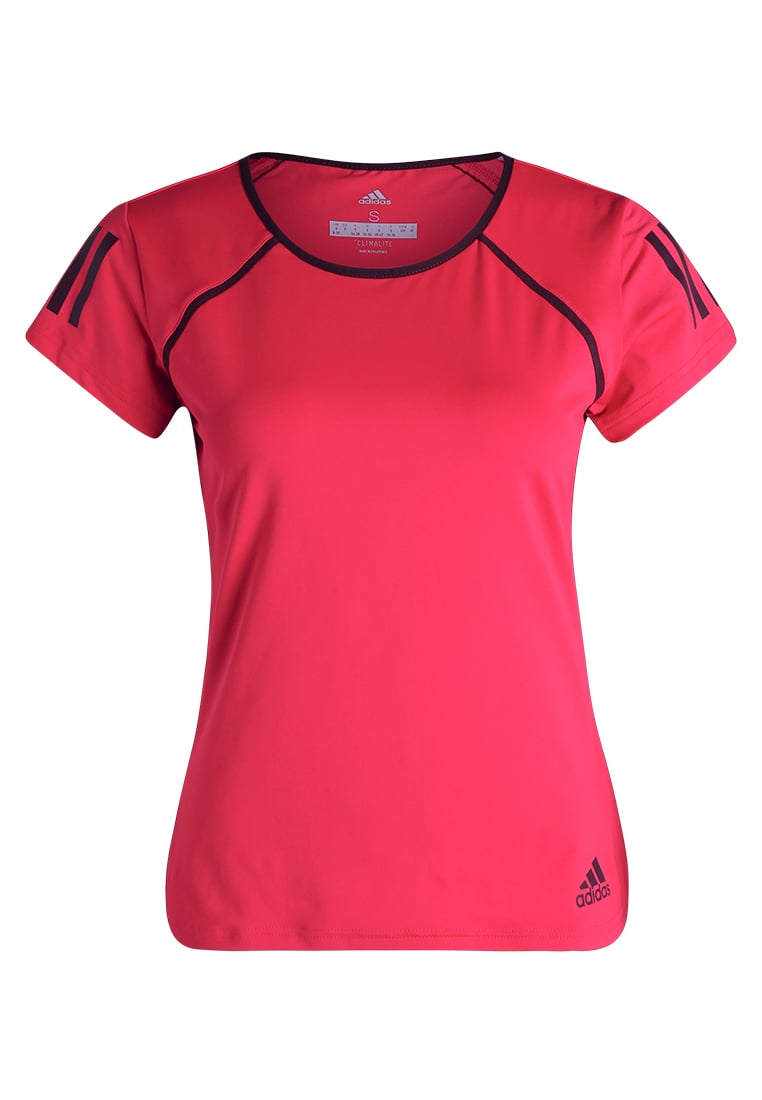 adidas Performance CLUB Tshirt z nadrukiem energy pink/dark burgundy - BVK53