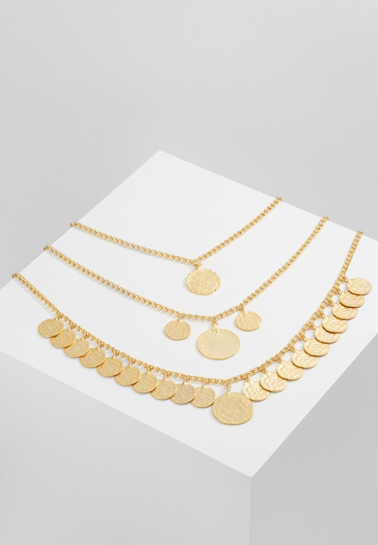 Kenneth Jay Lane COIN NECKLACE Naszyjnik satin goldcoloured - 6622N3