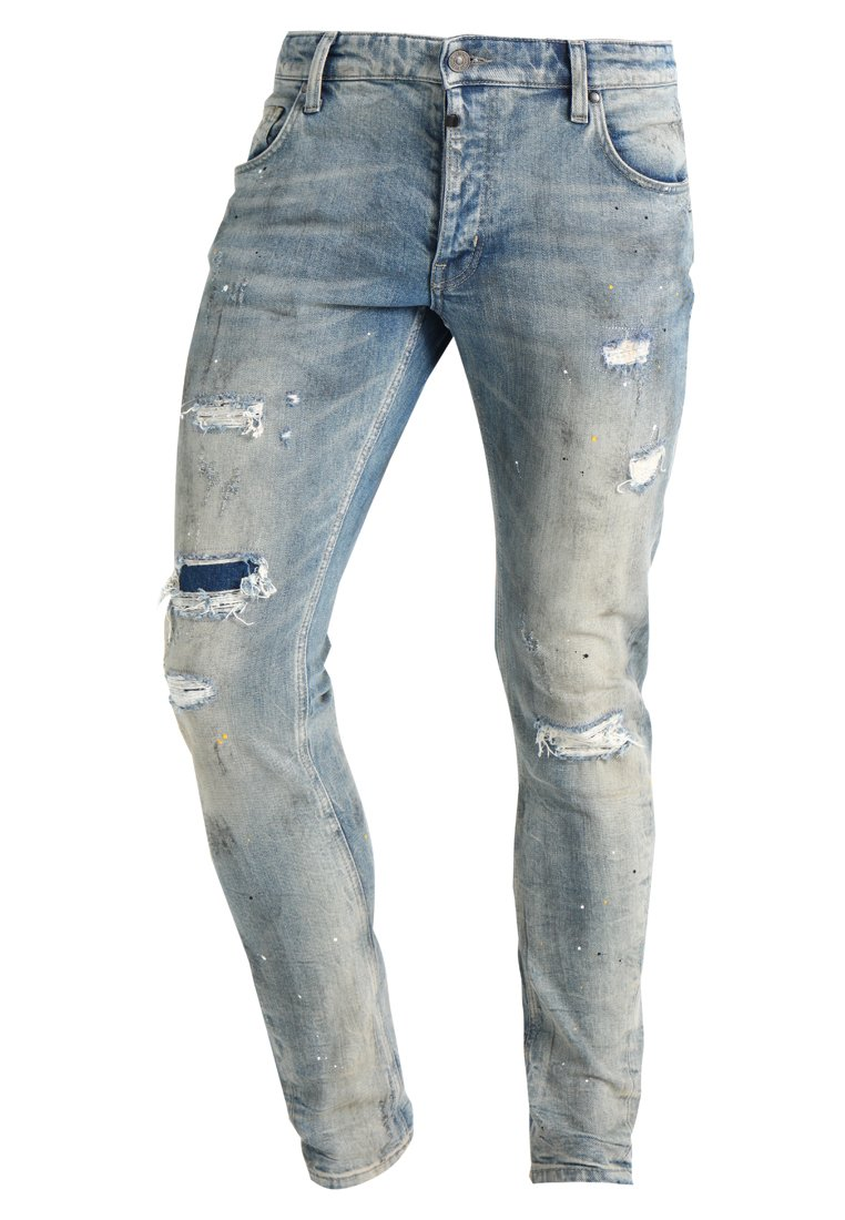 Tigha BILLY THE KID Jeansy Slim Fit vintage sand blue ripped - 102166