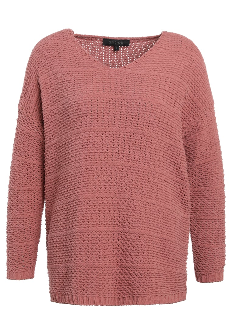 Soft Rebels LULU  Sweter dusty rose