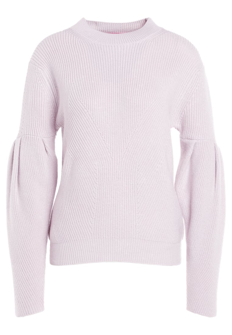 81hours Studio RIBBED PUFF SLEEVES Sweter crystal powder - Z81015
