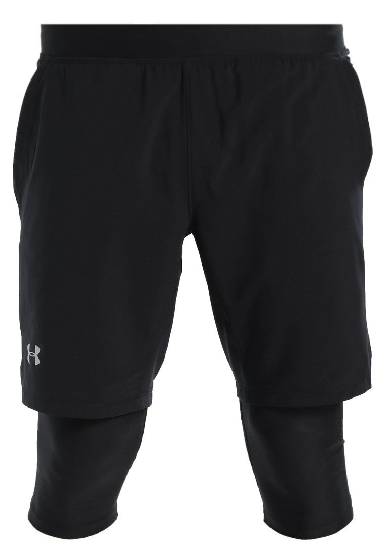Under Armour LAUNCH LONG SHORT Rybaczki sportowe black - 1309602