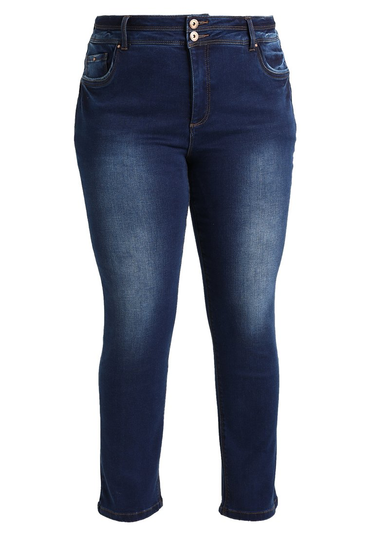 Simply Be SHAPE SCULPT STRAIGHT LEG Jeansy Straight Leg dark vintage blue