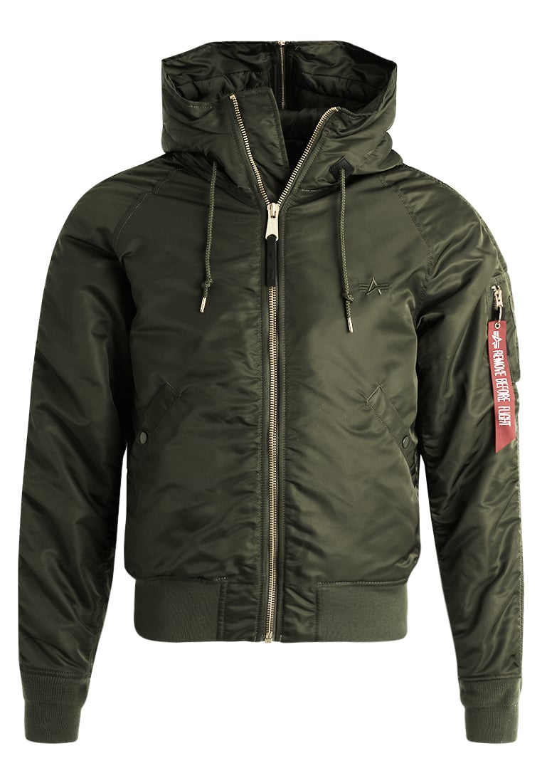 Alpha Industries Kurtka zimowa dark green gold - 178142