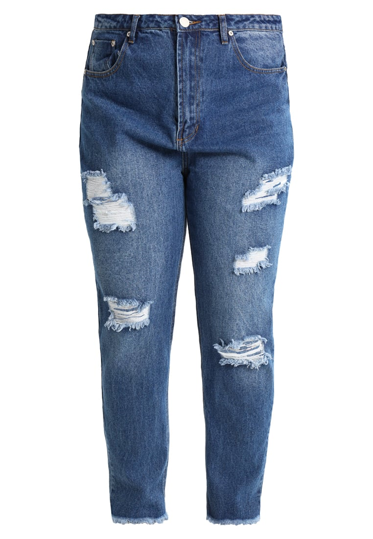 Glamorous Curve Jeansy Relaxed fit mid blue bleach - CK4218X