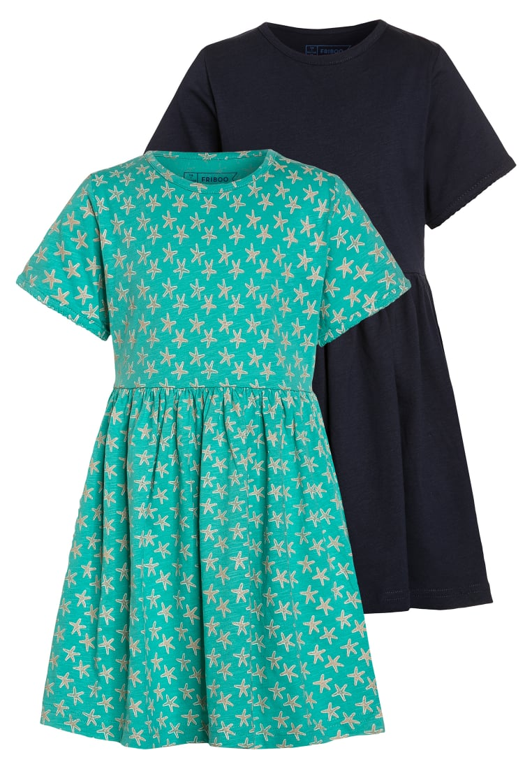 Friboo 2 PACK Sukienka z dżerseju dark blue/turquoise - Dress Set 1