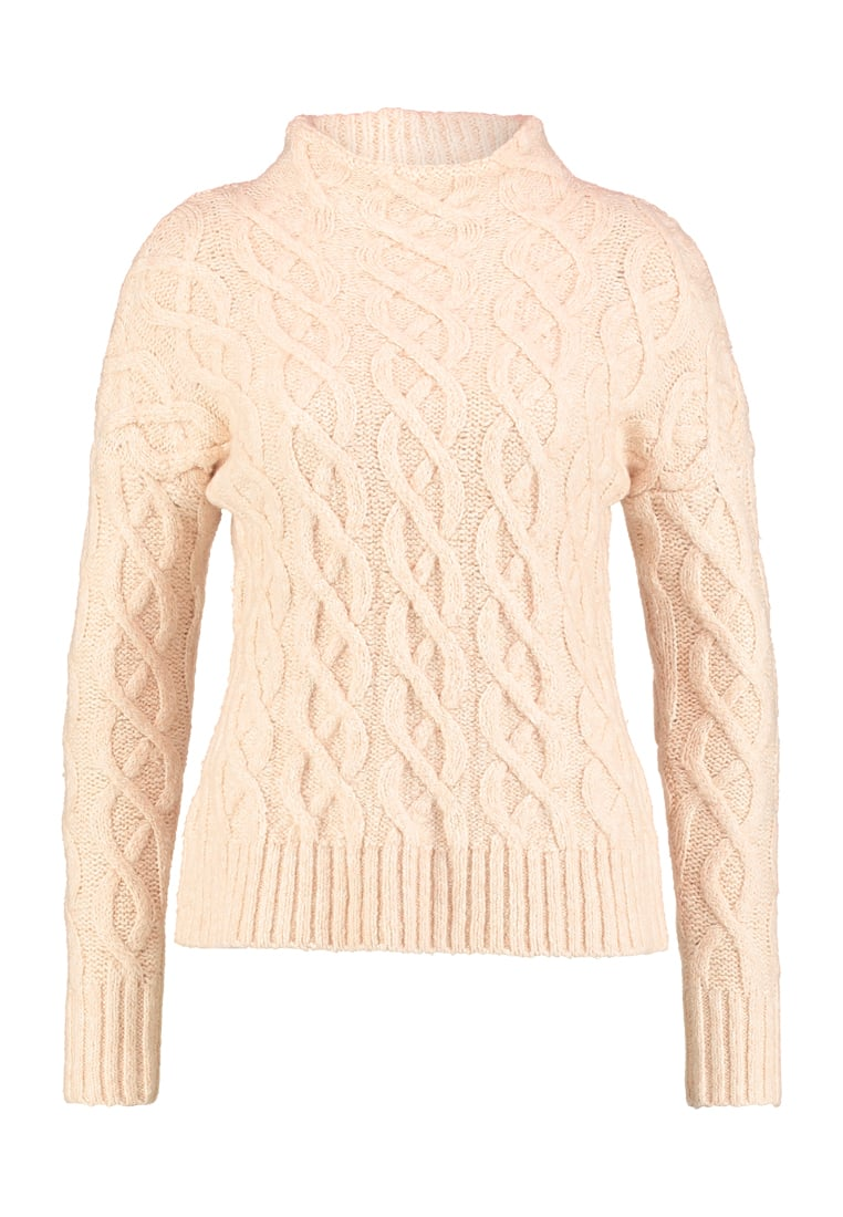 Mint Velvet ALL OVER CABLE Sweter pale apricot - 12082
