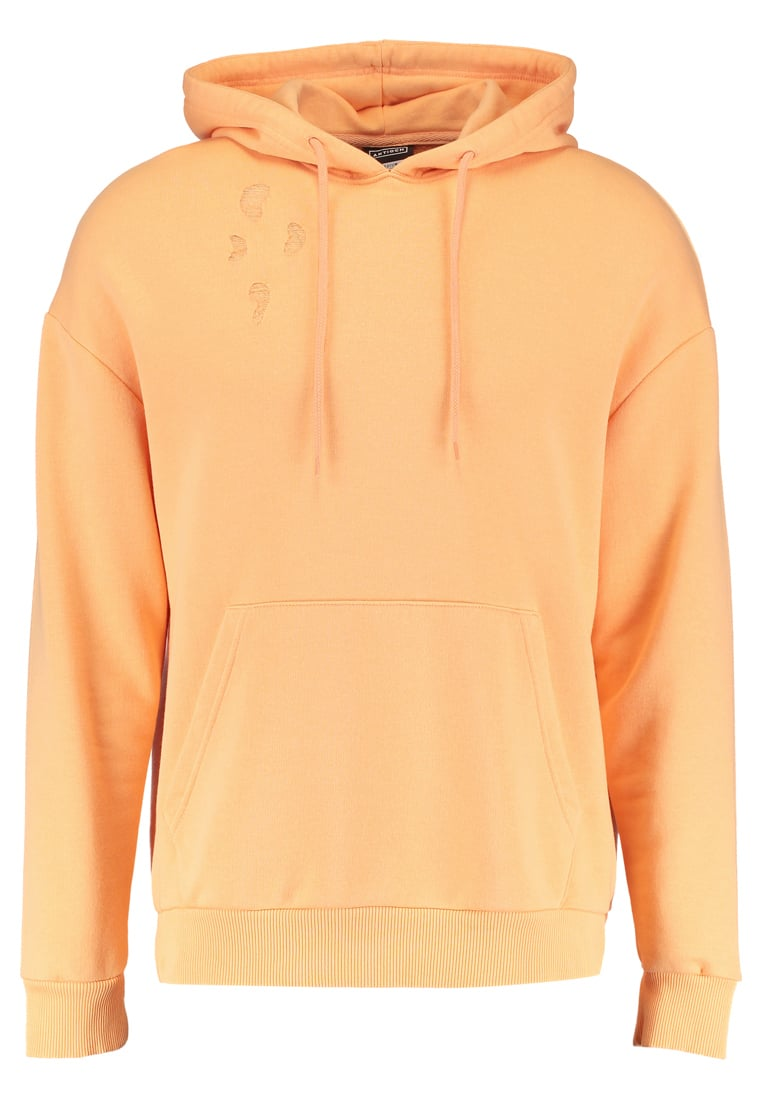 Antioch OVERSIZED DROP SHOULDER WITH DISTRESSING Bluza z kapturem coral - ANMHD0135COR