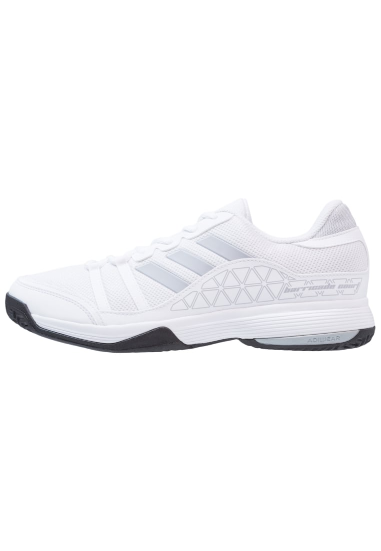adidas Performance BARRICADE COURT Buty multicourt white/clear onix/black - KDC46