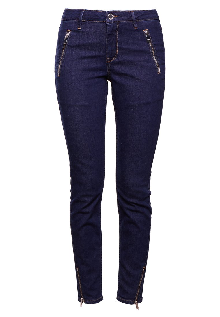 2nd Day SALLY CROPPED ZIP Jeansy Slim Fit indigo - 2182724313