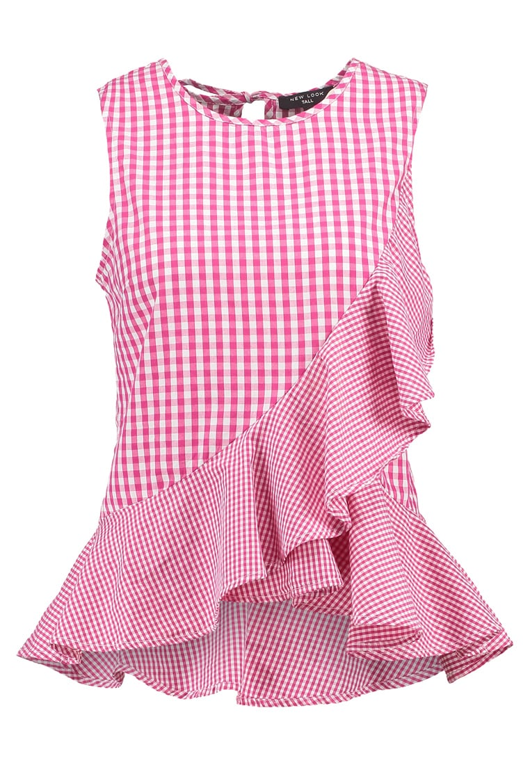 New Look Tall GINGHAM RUFFLE Bluzka pink - 5305081