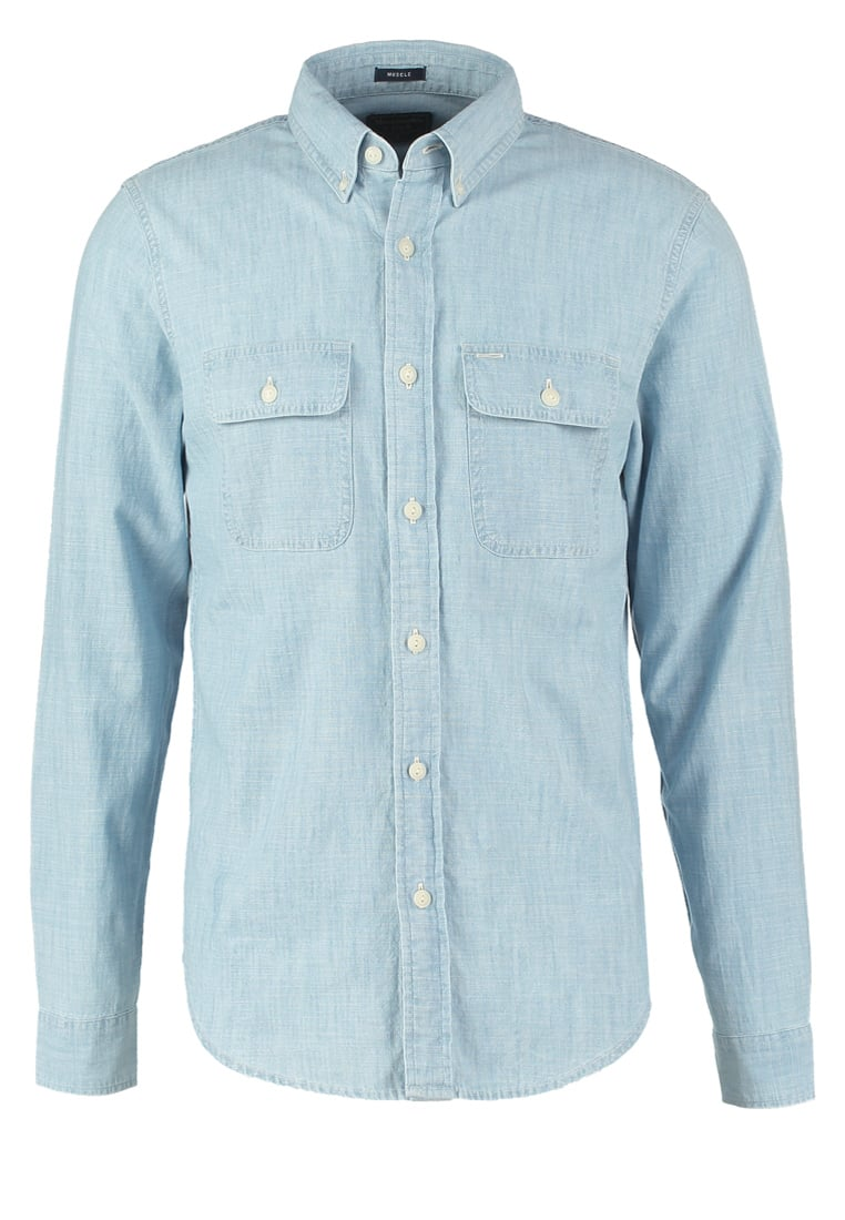 Abercrombie & Fitch MUSCLE FIT Koszula chambray - KI125-6312