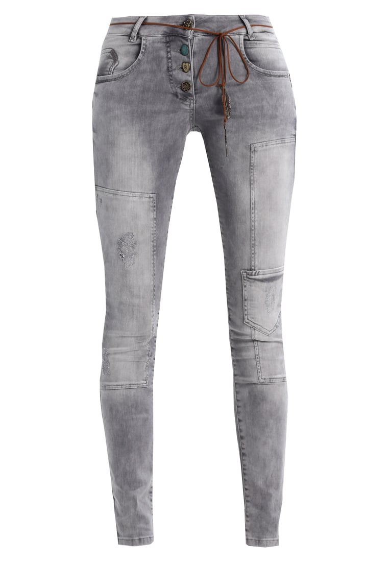 Isla Ibiza Bonita Jeansy Slim fit grey - 8217206