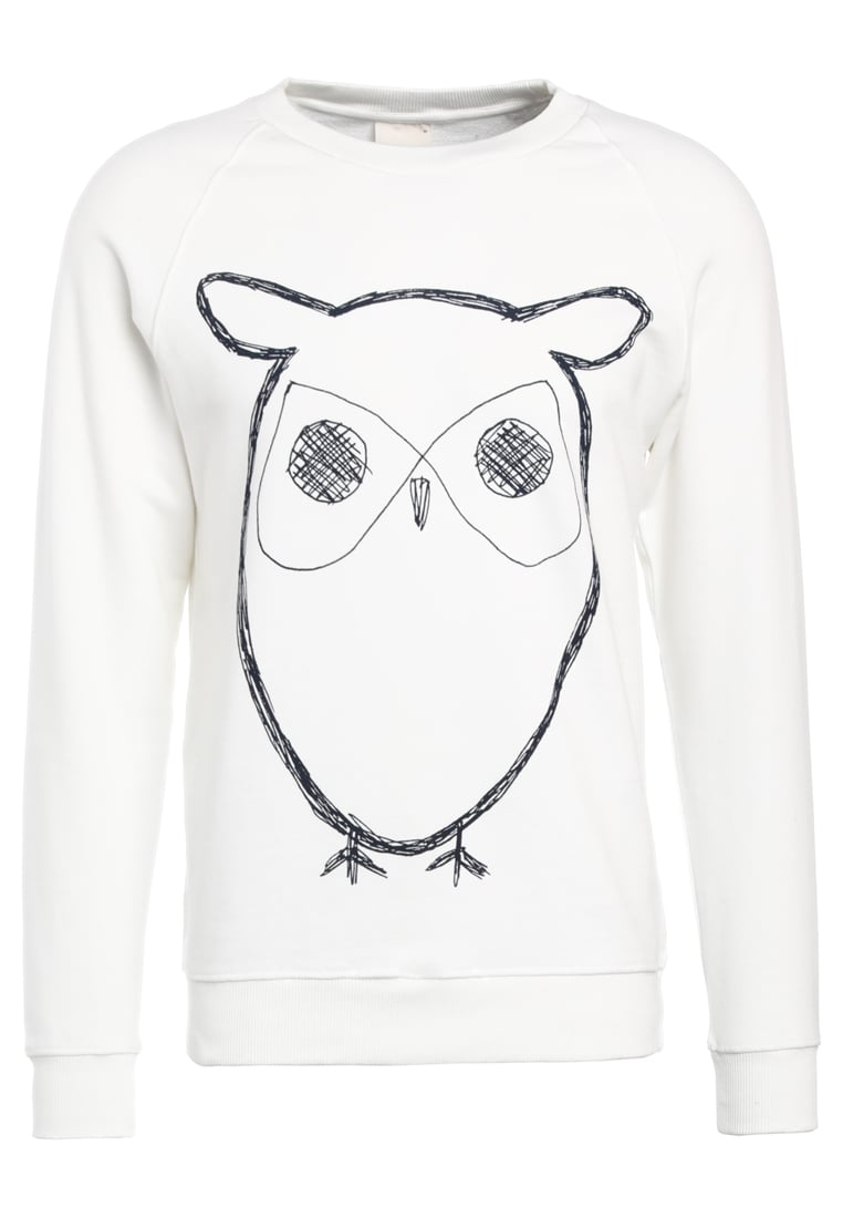Knowledge Cotton Apparel BIG OWL Bluza star white - 30295