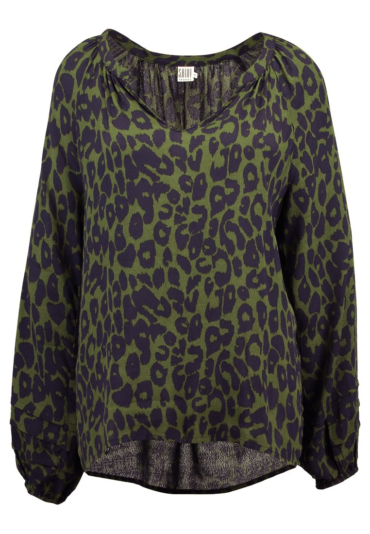 Saint Tropez ANIMAL PRINTED BLOUSE Tunika cactus - R1009