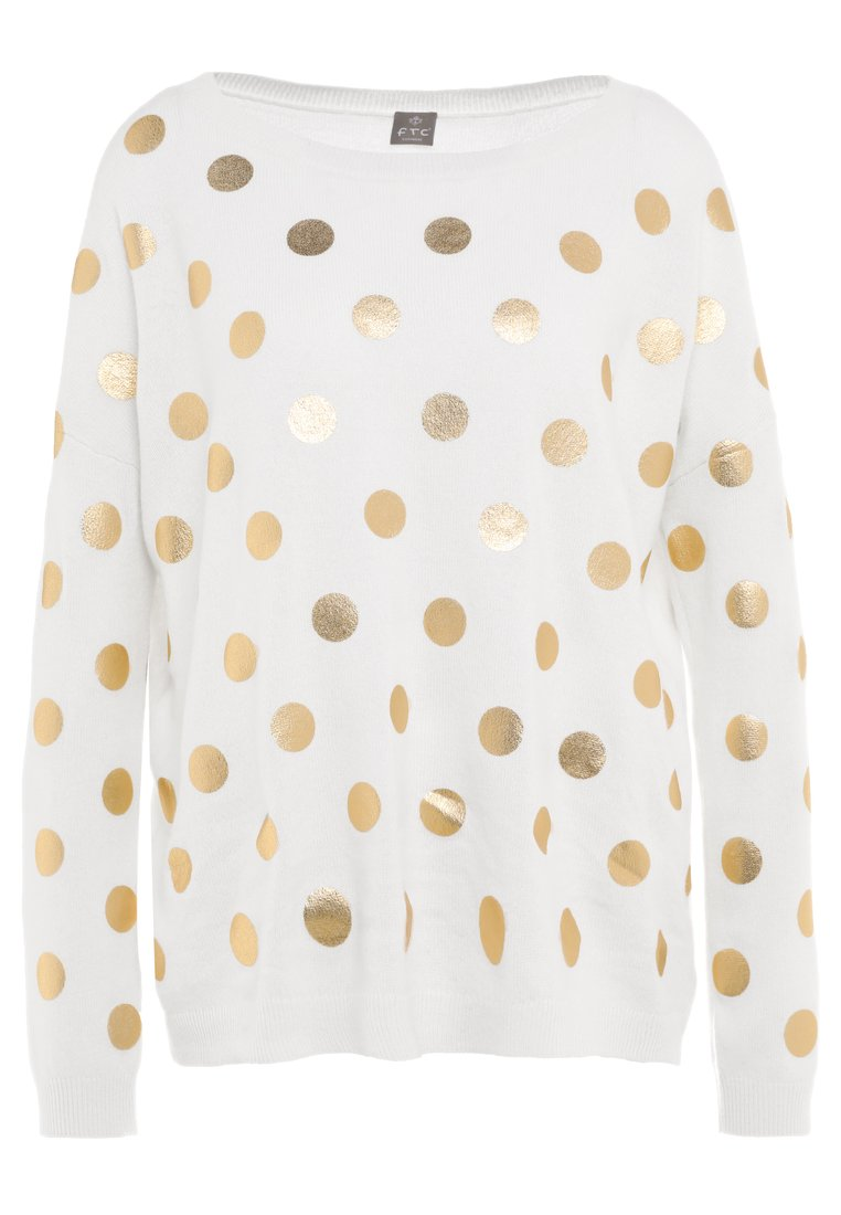 FTC Cashmere DOTS Sweter offwhite - 710-0550