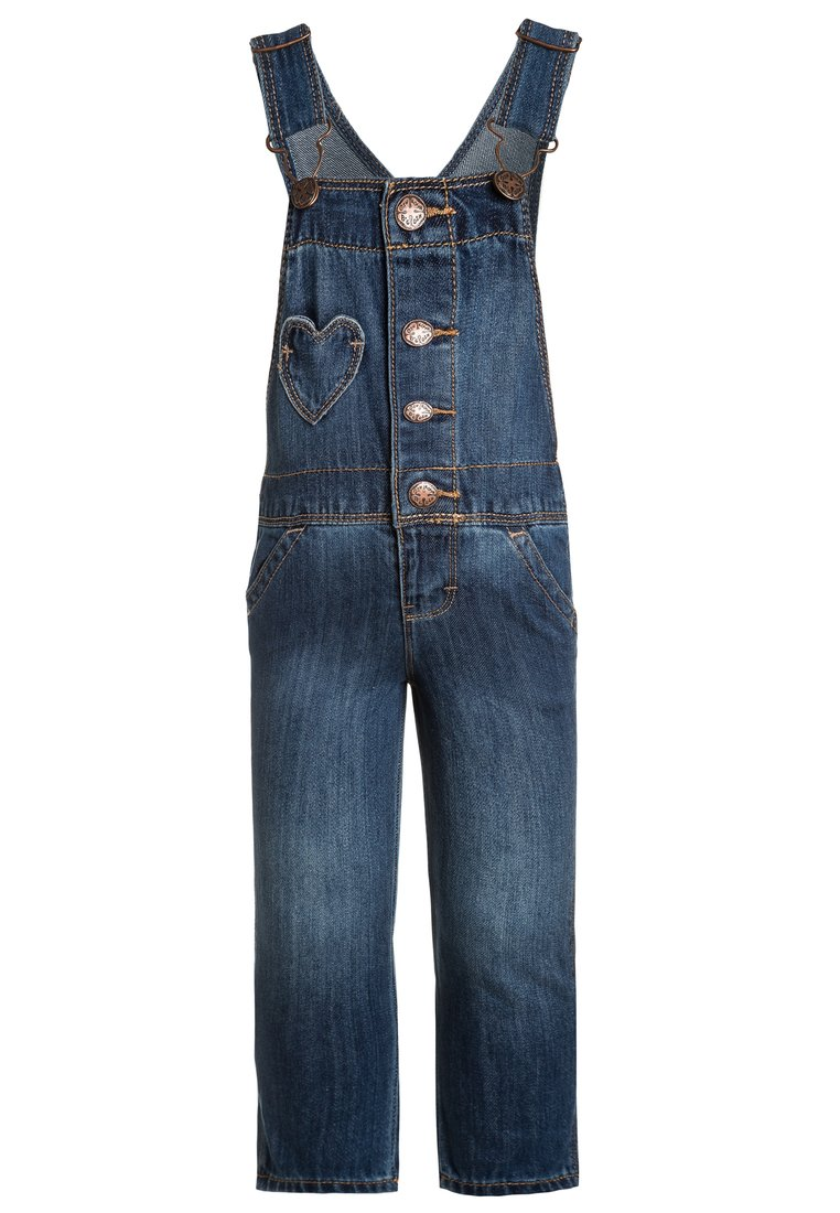 OshKosh HEART POCKET Ogrodniczki blue denim - 23168010