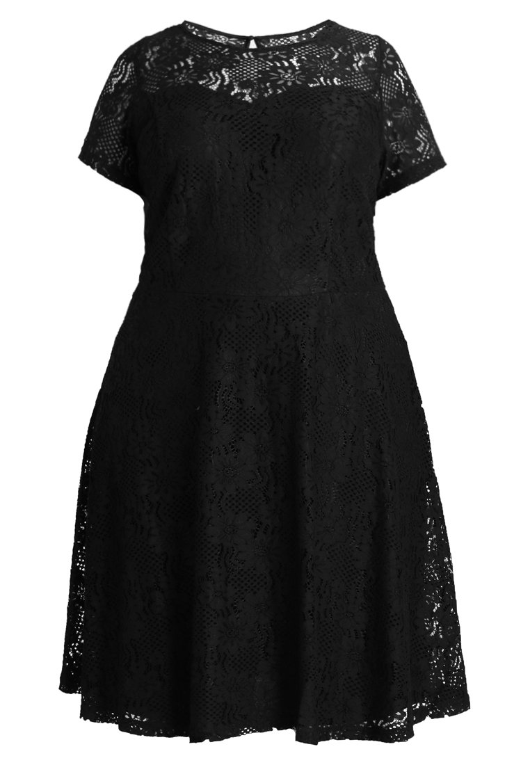 Dorothy Perkins Curve NEW FIT FLARE DRESS Sukienka koktajlowa black