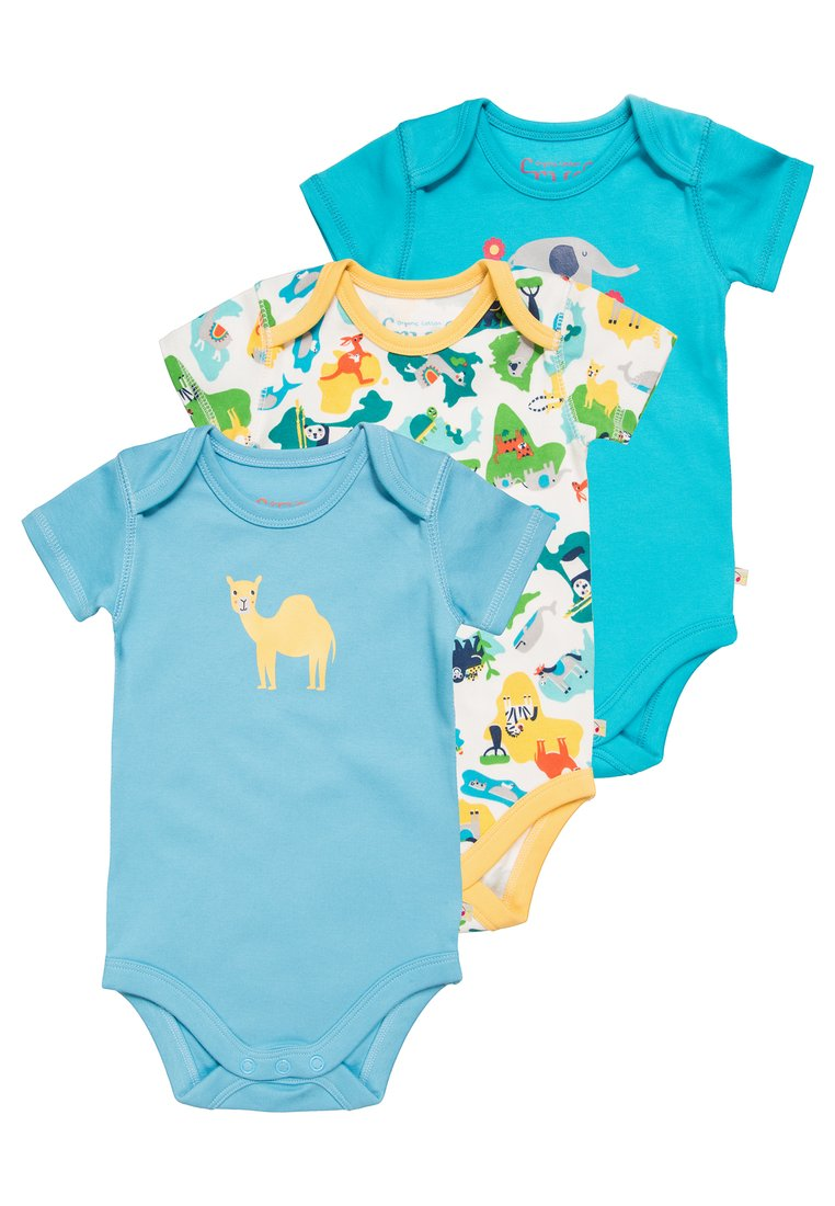 Frugi BABY SUPER SPECIAL 3 PACK Body green - BBS810GFM