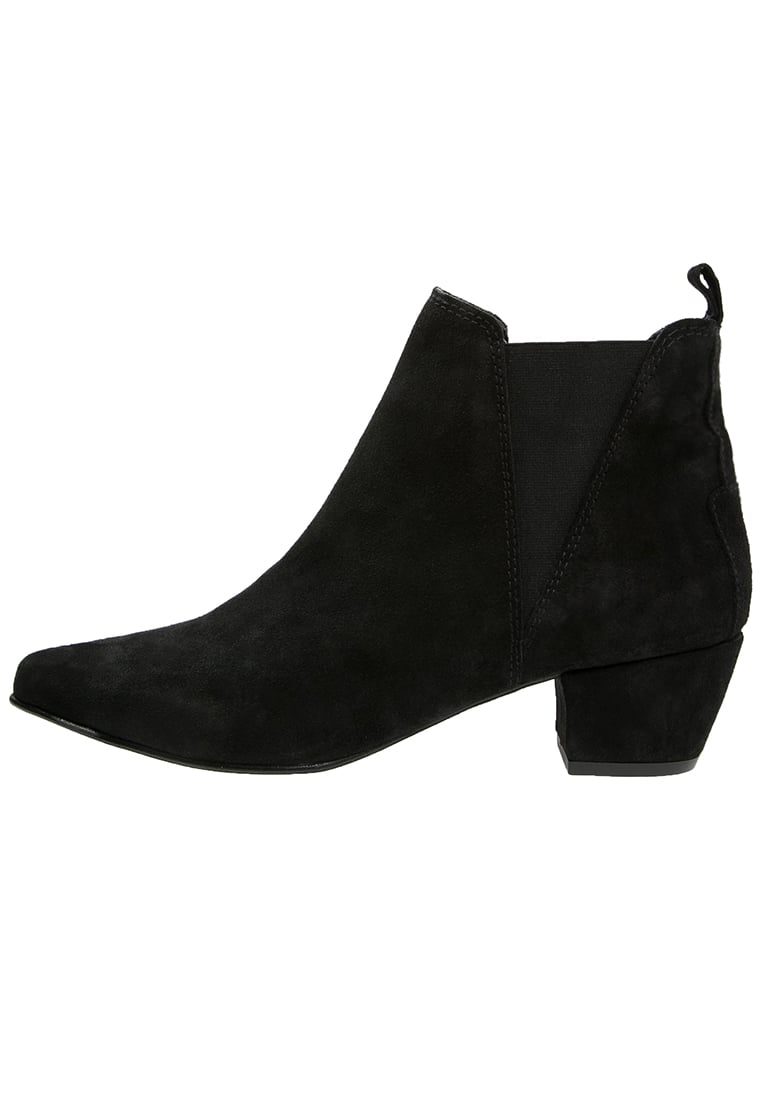 Warehouse Ankle boot black - Suede Ankle Boot