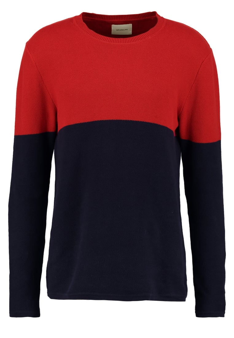 We are Cph Sweter red - PIOTR O NECK
