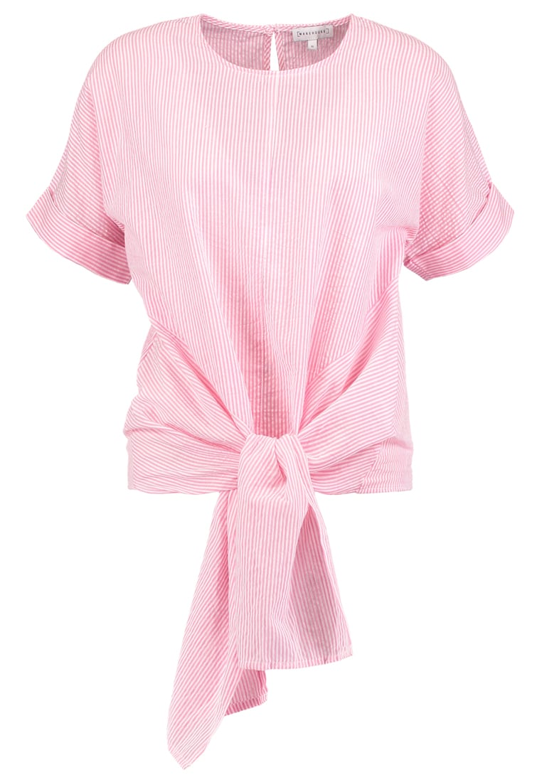Warehouse Bluzka pink - Tie Front Top