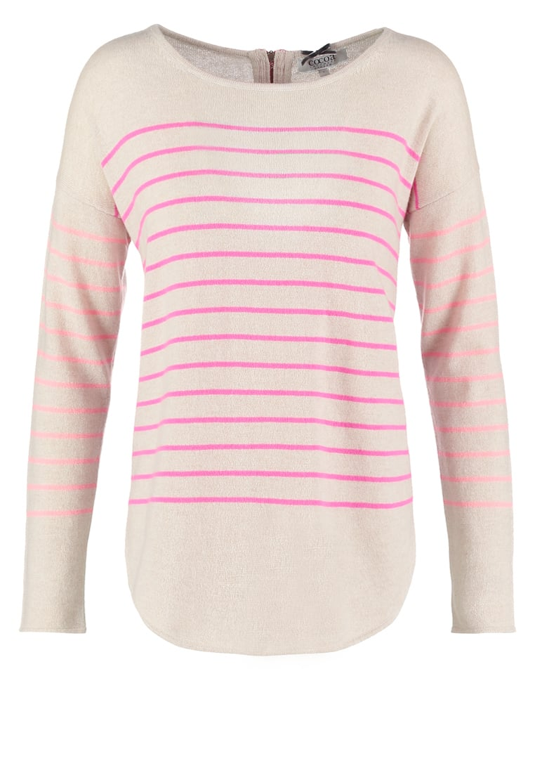 Cocoa Cashmere Sweter mango/dayglow/oatmeal - CC1026