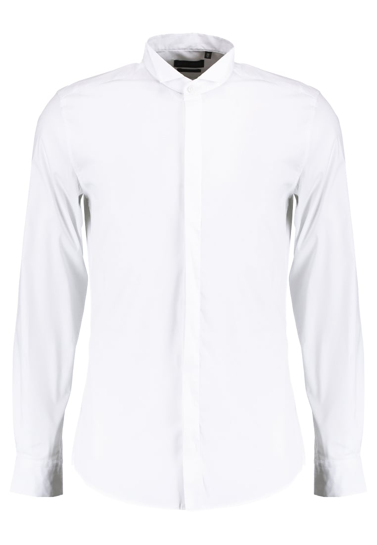 Antony Morato SLIM FIT WITH HIDDEN BUTTONING Koszula biznesowa white - MMSL00244FA450001