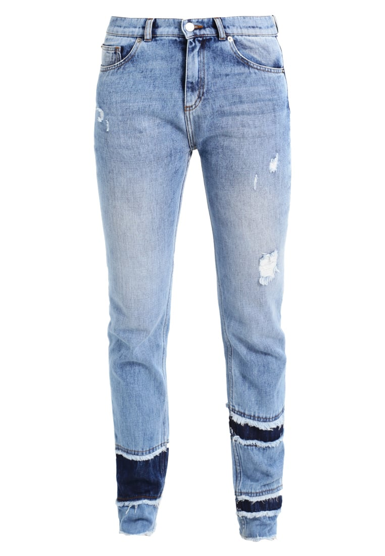 Each x Other FRAYED Jeansy Straight leg light blue vintage - FW17G16060
