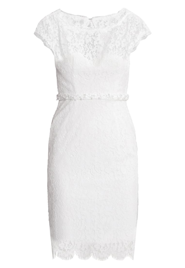 Unique Sukienka koktajlowa cream white - w7012410