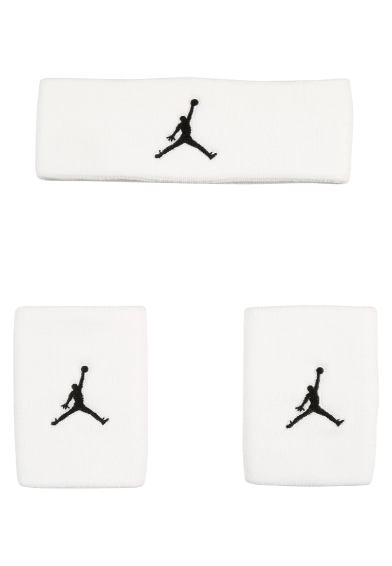 Jordan JUMPMAN SET Opaska z froty white/black - 9010 -6