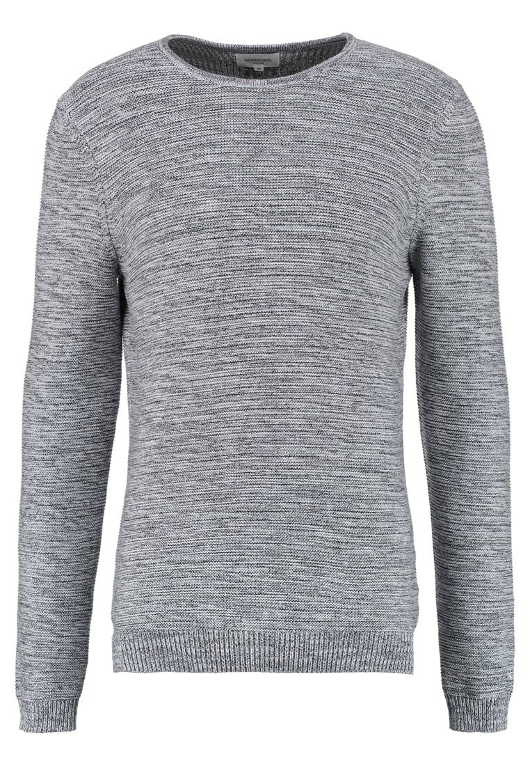 Nowadays MOULINE TWIST Sweter light grey - NP0202D1