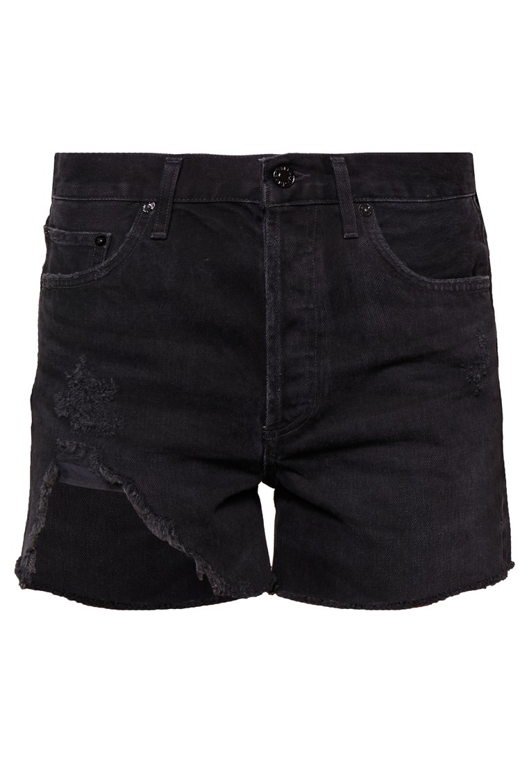 Agolde DEE HIGHRISE Szorty jeansowe black - A083-998