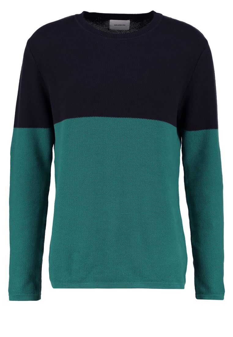 We are Cph Sweter green field - PIOTR O NECK