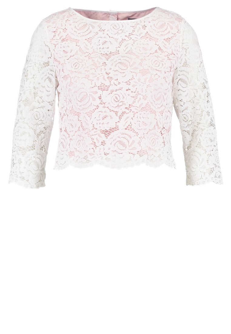 Oasis Bluzka ivory - LACE BUTTON BACK TOP