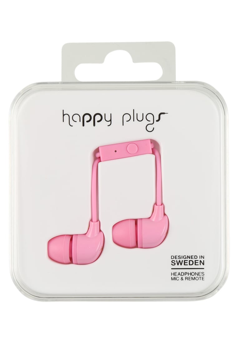 Happy Plugs Słuchawki pink - Happy Plugs In-Ear