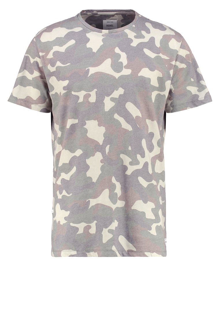 Redefined Rebel BOSTON Tshirt z nadrukiem camo - TSN707