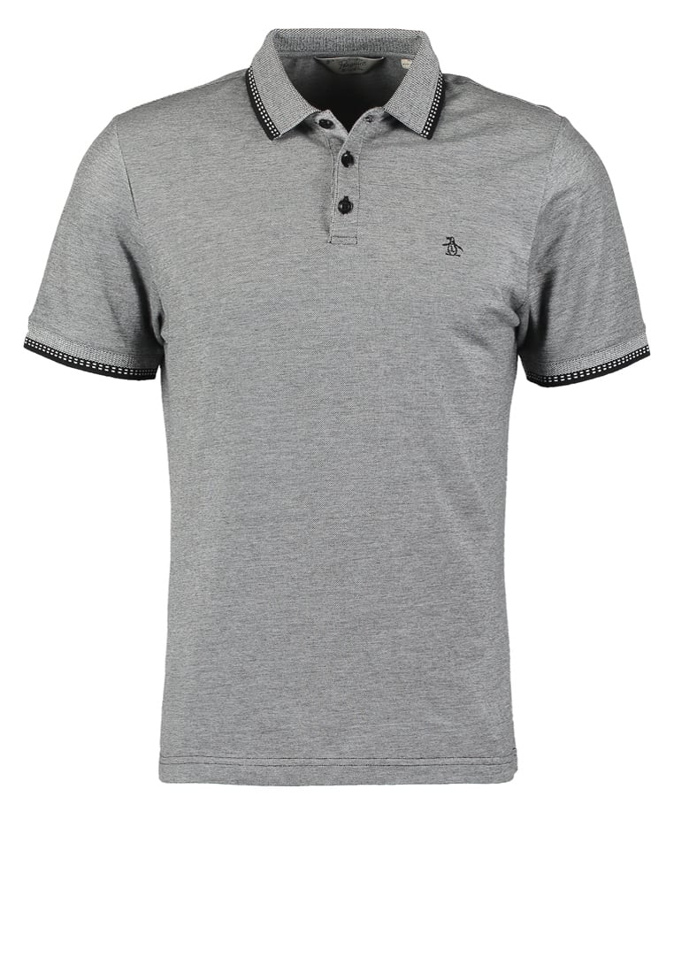 Original Penguin TIPPED Koszulka polo true black - OPKF6313