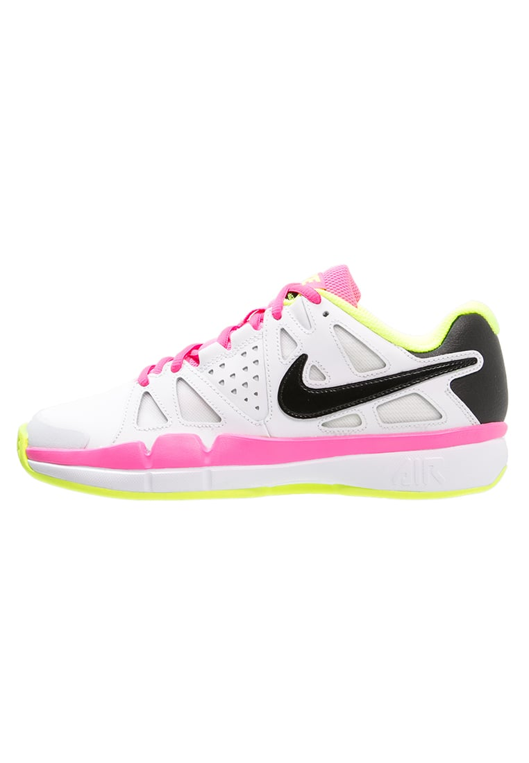 Nike Performance AIR VAPOR ADVANTAGE Buty do tenisa Outdoor white/black/volt/pink blast - 819661