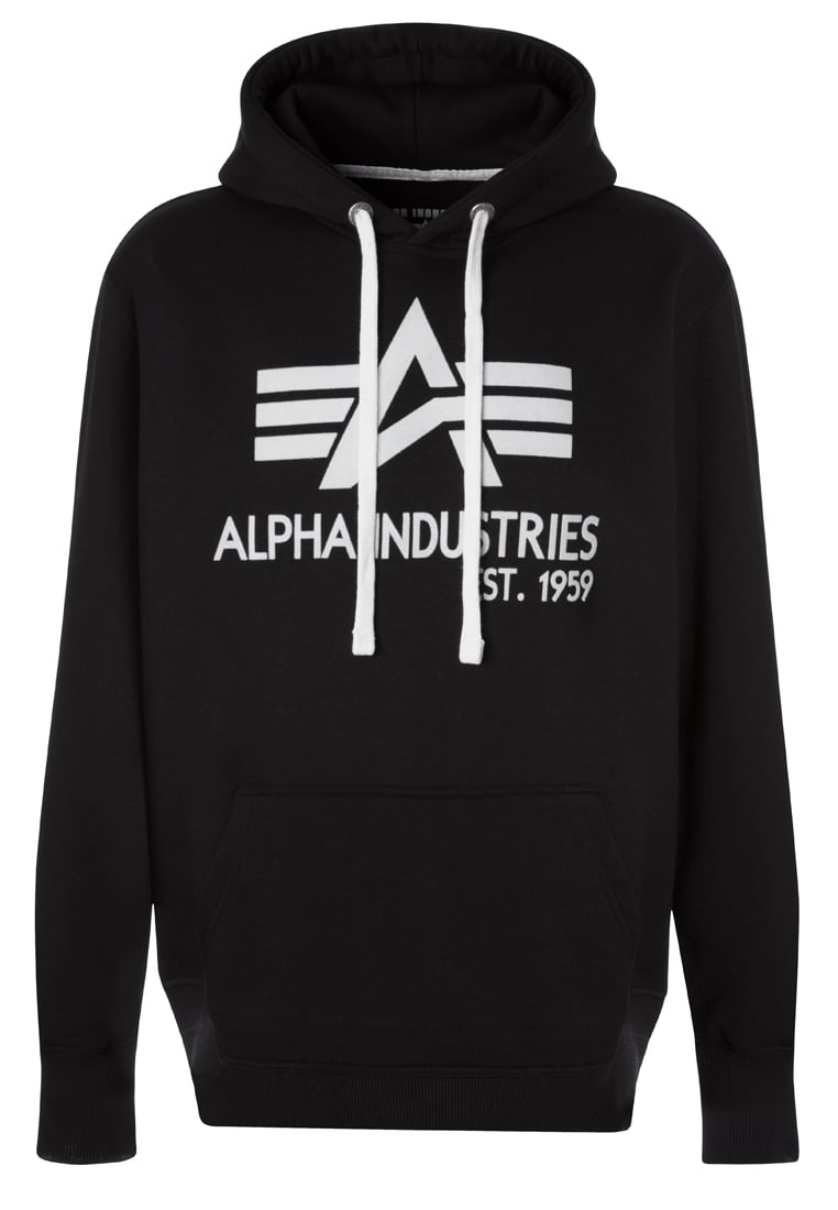 Alpha Industries BIG A CLASSIC Bluza z kapturem black - 103308