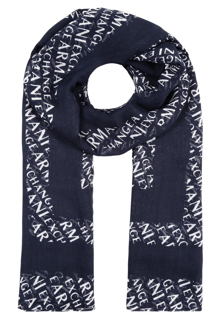 Armani Exchange SCARF Szal navy/white - 8NY401 YN85Z