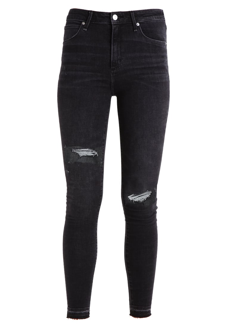 Abercrombie & Fitch HIGH RISE SUPER SKINNY Jeans Skinny Fit black - KI155-7210