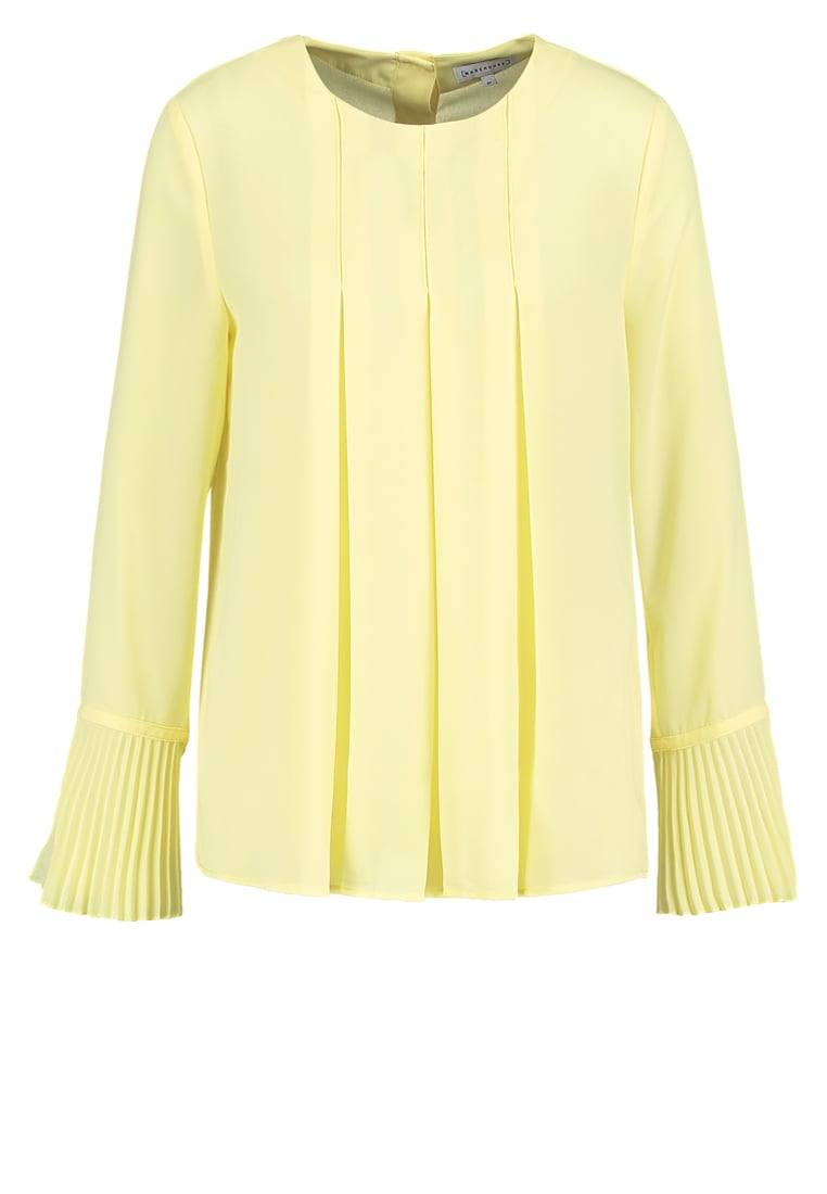 Warehouse Bluzka yellow - Box Pleat Top