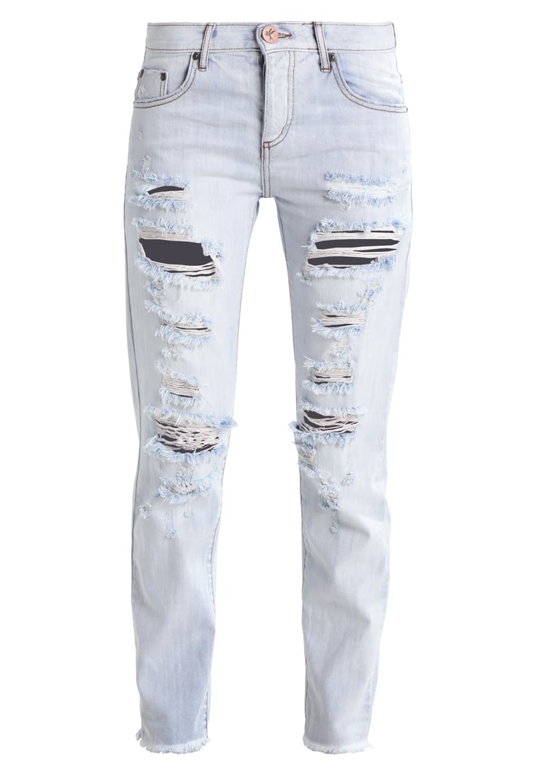 One Teaspoon HAMPTONS AWESOME Jeansy Slim fit destroyed denim - 19437C