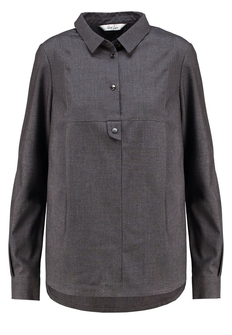 And Less CORDOVA SHIRT Bluzka grey - 5616025