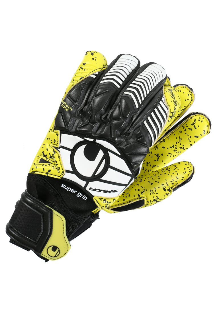 Uhlsport ELIMINATOR SUPERGRIP BIONIK + Rękawice bramkarskie lite fluo yellow/black/white - 1011003