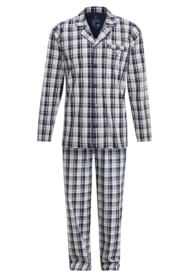 GANT UPTOWN CHECK SET Piżama navy - 901739160